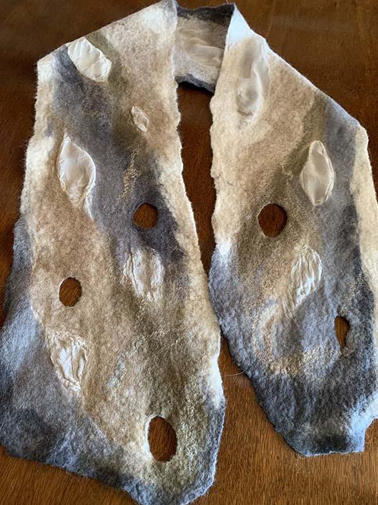 Carole Watson Nuno Felt Wool Scarf ~ 03